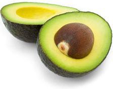 Авокадо, где содержится фолиевая кислота.