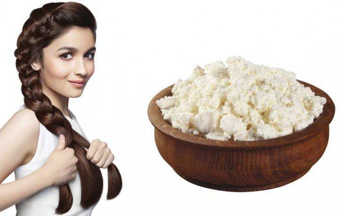 Творог для волос и кожы головы: польза и побочные эффекты